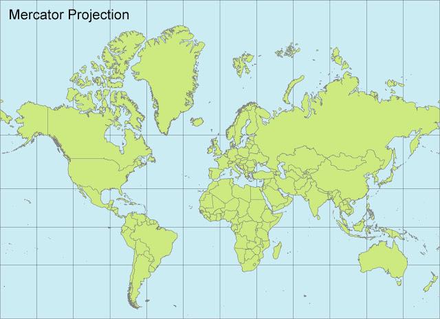 现出来的世界地图